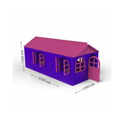 Детский домик со шторками 129х256х120 см 02550/20