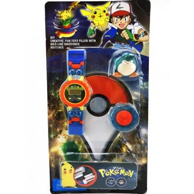 """Часы-конструктор """"Pokemon GO"""" с фигуркой BT-PG-0013"""