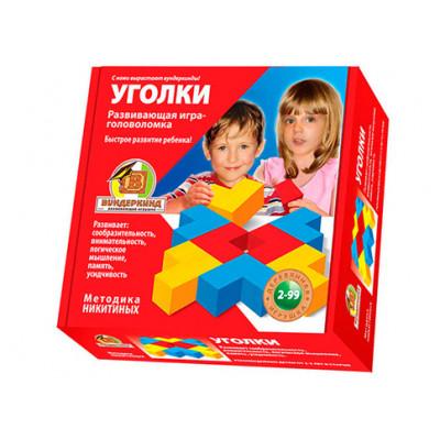Деревянная головоломка кубики Уголки К-004