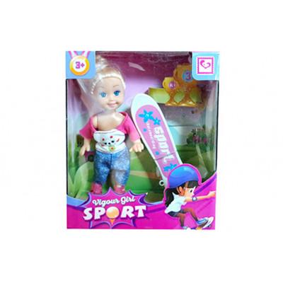 """Кукла """"Mini doll"""" на скейте в коробке 12,5х15х4,5 см K899-37"""