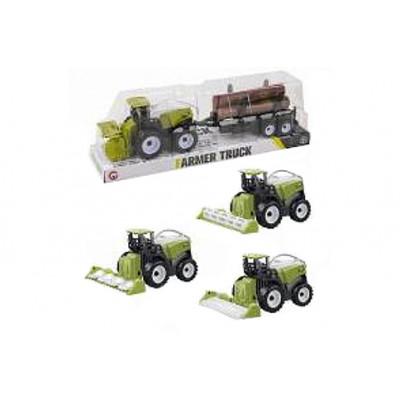 Трактор інерційний з причіпом в ковпаку 34х8х10 см 9970,3B