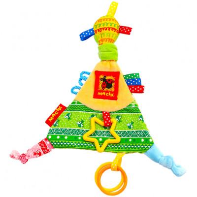 Игрушка мягконабивная Треугольник с кольцами МС 030602-01