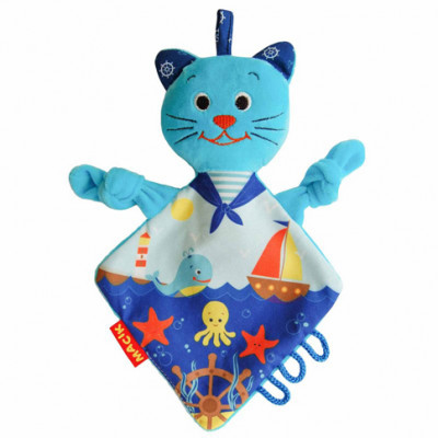 Игрушка мягконабивная обнимашка Кот-моряк МС 110604-03