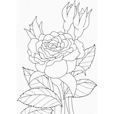 """Набор для росписи """"Троянда"""" 25х30 см 15505-AC"""
