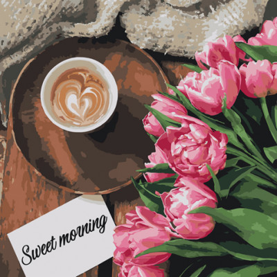 "Картина по номерам ""Sweet morning"" 40х40 см 12107"