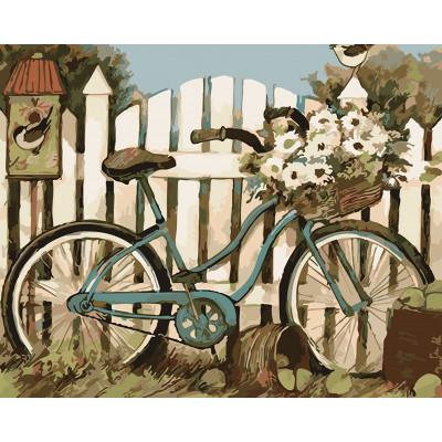 """Картина по номерам """"Велосипед у калитки"""" тм Лавка LC30015"""