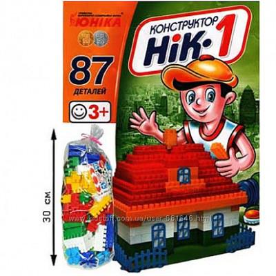 Конструктор НИК-1 (87 элементов) Юника 70880