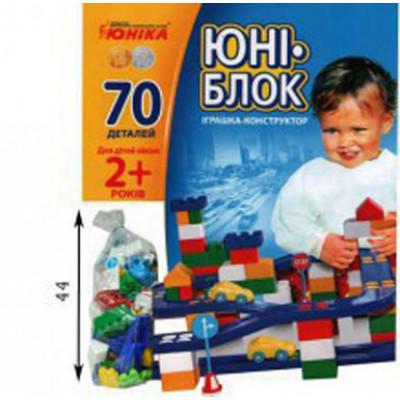 Конструктор Юни-блок (70 деталей) Юника 70118