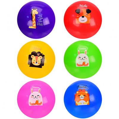 Мяч резиновывй в сетке по 3 мячя 10 см, 6 цветов CY21005