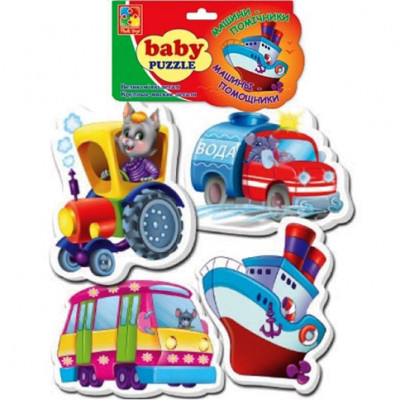 "Baby пазлы 4 в 1 ""Машинки"" VT1106-08"