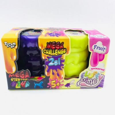 """Вязкая масса 2в1 """"Mega Stretch Slime"""" и """"Fluffy Slime"""" укр FLS-03-01U"""