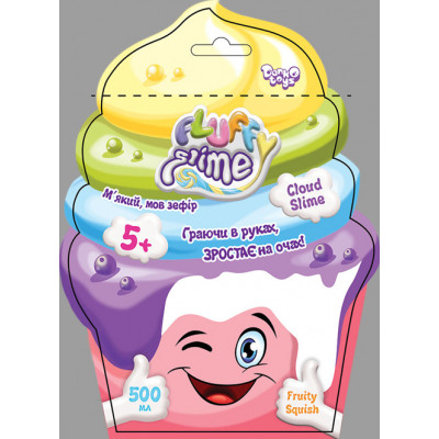 """Вязкая масса """"Fluffy Slime"""" в пакете 500 г укр FLS-02-01U"""
