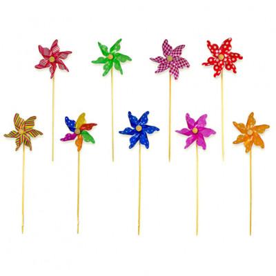 Ветрячок на деревянной на палочке (микс цветов) 2025-7