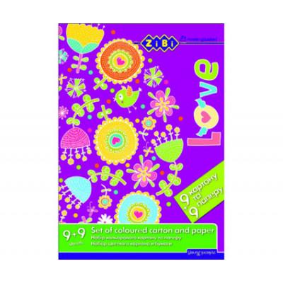 Kids Line Набор цветного картона и бумаги А4 ZB.1968