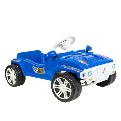 Машина педальная синяя 792С