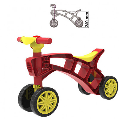 Ролоцикл красный Техн.2759