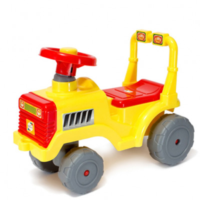 Машинка для катания Беби Трактор лимон 931
