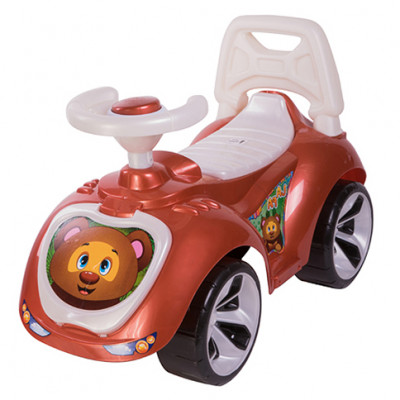 "Машинка каталка ""ЛАПКА"" коричневая 758"