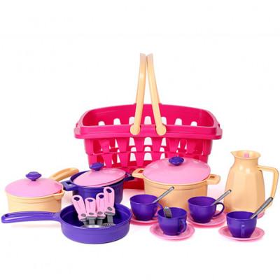 """Игрушка """"Набор посуды"""" (фиолетовый) Техн.4449"""