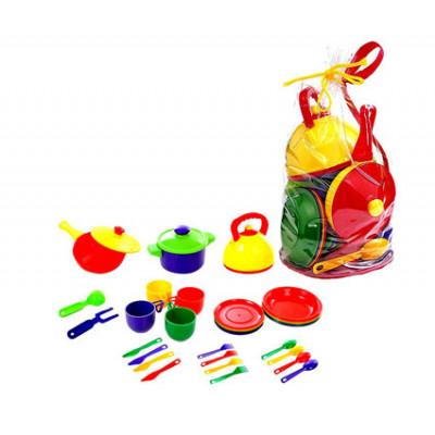 Набор посуды большой (кастрюли, тарелки, столовые приборы ) Юника 71023