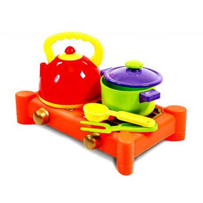Посуда с плитой 5 предметов Юника 70415