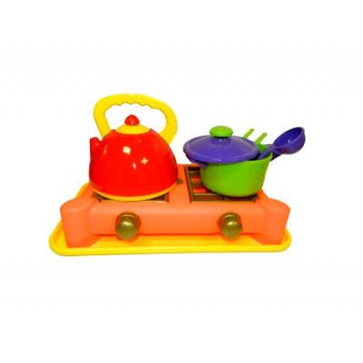 Посуда с плитой 6 предметов Юника 70408