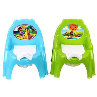 Горшок детский Зелёный и Голубой Техн.4074