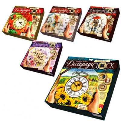 "Набор для творчества ""Decoupage Clock"" DKС-01-06,07,08,09,10"