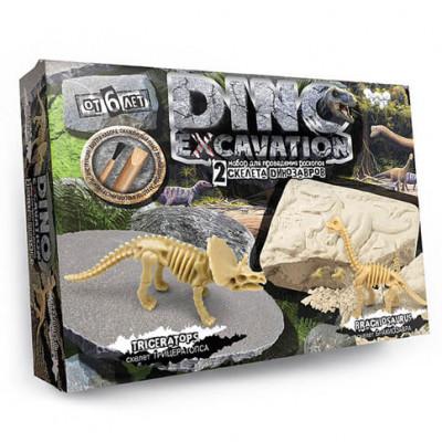 Набор для проведения раскопок DINO EXCAVATION Динозавры DEX-01-04,05,06