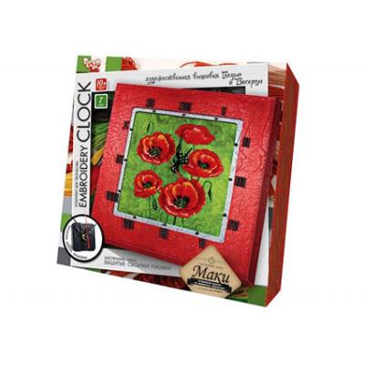 "Набор для творчества ""Embroidery clock"" Маки DankoToys 5521 02"