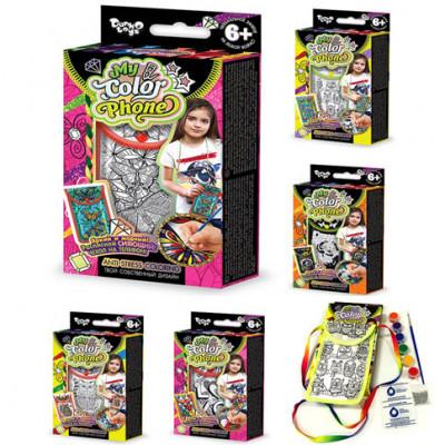 Набор креативного творчества My Color Phone Чехол-раскраска COP-01-01,02,03...06