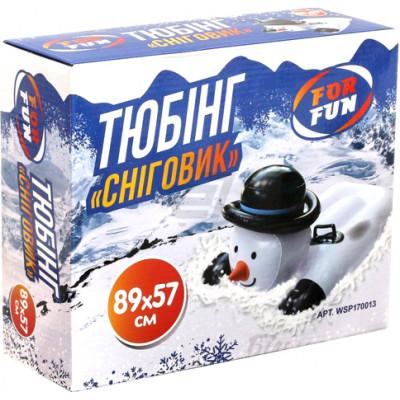 """Санки тюбинг """"Снеговик"""" 89х57 см WSP170013"""
